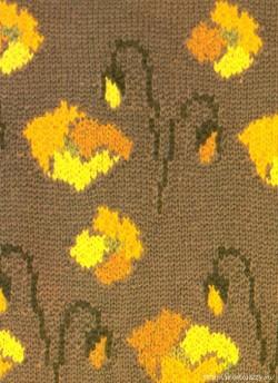 Как вязать орнамент нитями различных цветов (Жаккардовое вязание и интарсия).