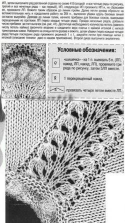 Вязание белого осеннего платья со схемой.