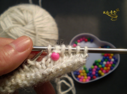 Вязание с бусинами — мастер класс.