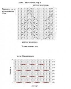 Изумительная ажурная туника — схема и описание.