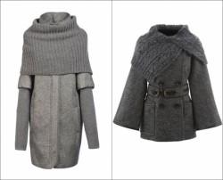 Пальто с вязанным воротником — тренд сезона! Схемка воротника.