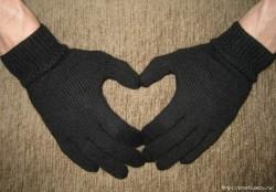 Как связать перчатки любимому спицами.