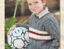 Стильный вязаный пуловер для мальчика.