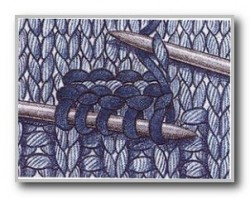 Вяжем набранный накладной карман и карман с клапаном.