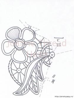 Румынское кружево крючком — пошаговый мастер класс.