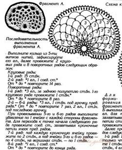 Фантазийные цветы крючком — схема.