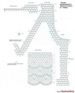Убавки и прибавки крючком (оформляем горловину, проймы и вырезы).