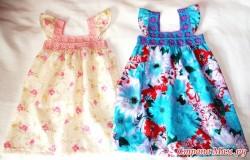 Комбинированные платья на лето крючком — схемы.