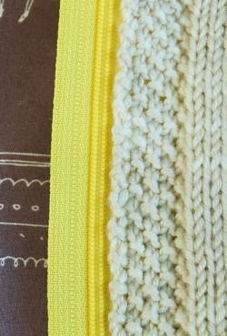 Как вшить молнию в вязание — мастер класс.