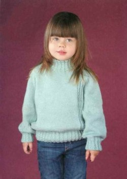 Детский пуловер цвета мяты