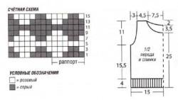 Безрукавка с ромбами для мальчика спицами, схема и описание вязания