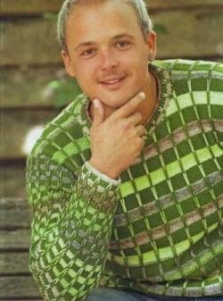 Пуловер с полосками из длинных петел
