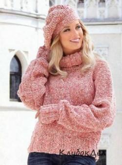 Пуловер, шапка и гетры