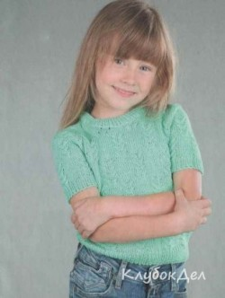 Детский пуловер с короткими рукавами