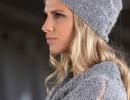 Стильная шапка спицами. Вязанные аксессуары для женщин