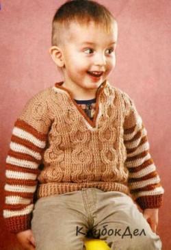 Детский пуловер крючком со схемами вязания. Вязание крючком для детей