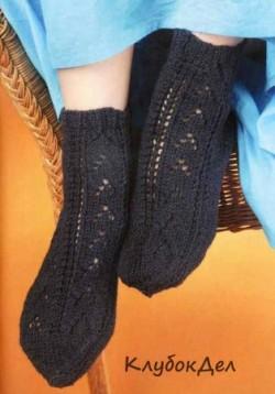 Носки спицами для начинающих. Вязаные спицами носков для женщин