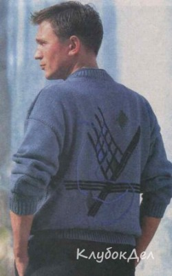 Мужской пуловер с рисунком. Пуловер спицами для мужчин схемы и описание