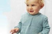 Детский пуловер спицами для мальчика 3 года. Пуловеры для детей