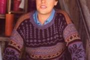 Мужской пуловер с норвежскими узорами