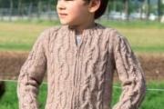 Детский жакет с узором «косы». Вязание спицами для детей, схемы и выкройка